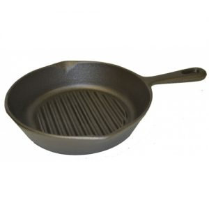 Ribbed Round Skillet