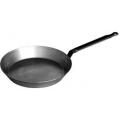 Sharp Tapered Black Iron Frypan
